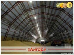 Ангары арочные, склады, цеха, зернохранилища ширина от 8м до - фото 4