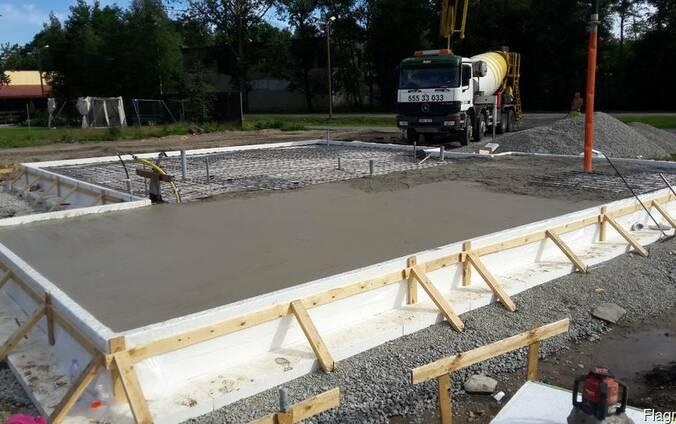 Бетонные полы , бетонные работы .