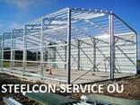 Frame steel halls, welded steel construction - photo 2