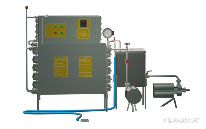 Пастеризатор молока проточный 1 т/ч УЗМ-1,0