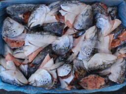 Продукты переработки лосося (Хребты, Брюшки, Головы, Куски и