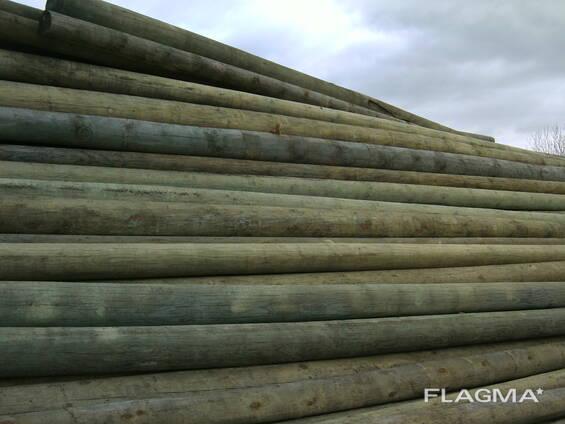 Столбы сосновые окоренные - опоры ЛЭП